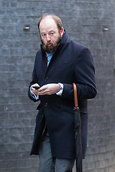 © Licensed to London News Pictures. 10/01/2017. London, UK. Advisor to the Prime Minister Nick Timothy arrives on Downing Street ahead of the weekly Cabinet meeting. Photo credit: Rob Pinney/LNP