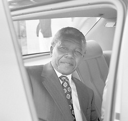 May 26, 1992 - Prague, Czechoslovakia - FILE PHOTO***President of the African National Congress (ANC) Nelson Mandela pictured in the car at the Prague Airport, Czechoslovakia on May 26, 1995. (Credit Image: © Cernik Vladimir/CTK/ZUMAPRESS.com)