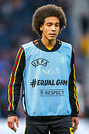 Axel Witsel (#6) of Belgium warms up ahead of the International Friendly match between Scotland and Belgium at Hampden Park, Glasgow, United Kingdom on 7 September 2018.