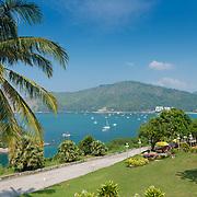 Road along the sea on Promthep Cape, Phuket