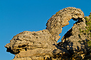 A rock arch in the Red Desert of Wyoming