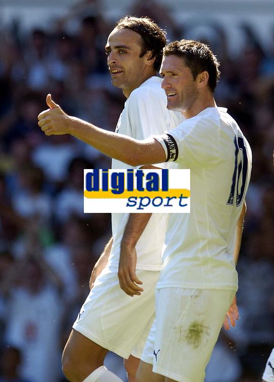 Photo: Olly Greenwood.<br />Tottenham Hotspur v Torino. Pre Season Friendly. 04/08/2007. Spurs Dimitar Berbatov celebrates scoring with Robbie Keane