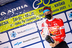 Matej MOHORIC of BAHRAIN VICTORIOUS at trophy ceremony during the 5th Stage of 27th Tour of Slovenia 2021 cycling race between Ljubljana and Novo mesto (175,3 km), on June 13, 2021 in Slovenia. Photo by Matic Klansek Velej / Sportida