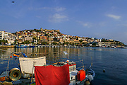 The fort as seen from the Kavala Harbor pier, East Macedonia, Greece