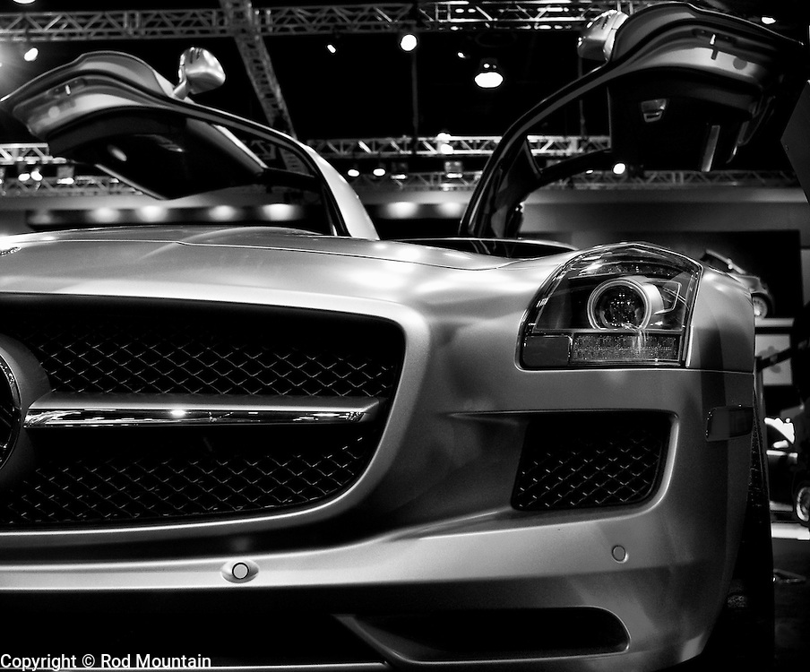 A Mercedes is on display at the 2011 Vancouver International Auto Show.