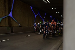 Nina Kessler leads through the Emmen Tunnel at Ronde van Drenthe 2017. A 152 km road race on March 11th 2017, starting and finishing in Hoogeveen, Netherlands. (Photo by Sean Robinson/Velofocus)