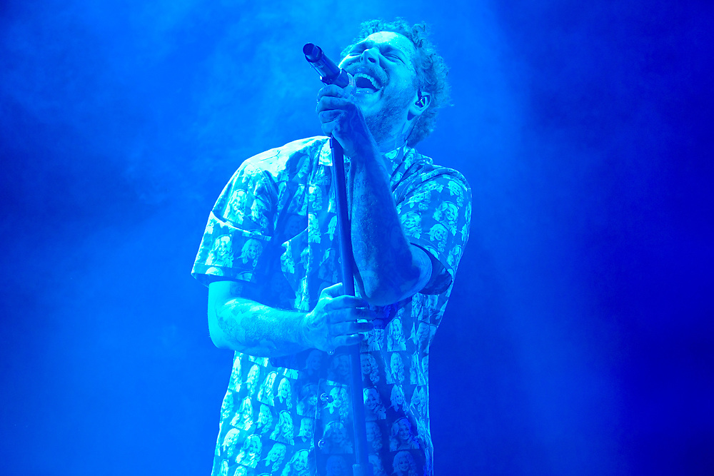 MANCHESTER, TENNESSEE - JUNE 15: Post Malone performs during 2019 Bonnaroo Music & Arts Festival on June 15, 2019 in Manchester, Tennessee