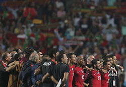 October 10, 2017 - Na - Lisbon, 10/10/2017 - The Portuguese football team received their Swiss counterpart tonight in the last game of the group stage to qualify for the 2018 FIFA World Cup in Russia , next June. Portugal won 2-0 to reach the final. Ronaldo and João Mário  (Credit Image: © Atlantico Press via ZUMA Wire)