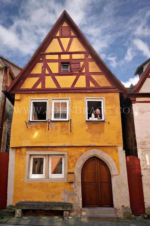 A yellow Tudor style house, Rothenburg, Germany