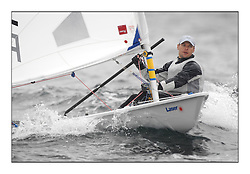 Marcin Rudawski, POL-196964.Day 2 brought Easterly changeable conditions for the Laser Radial World Championships, taking place at Largs, Scotland GBR. ..118 Women from 35 different nations compete in the Olympic Women's Laser Radial fleet and 104 Men from 30 different nations. .All three 2008 Women's Laser Radial Olympic Medallists are competing. .The Laser Radial World Championships take place every year. This is the first time they have been held in Scotland and are part of the initiaitve to bring key world class events to Britain in the lead up to the 2012 Olympic Games. .The Laser is the world's most popular singlehanded sailing dinghy and is sailed and raced worldwide. ..Further media information from .laserworlds@gmail.com.event press officer mobile +44 7775 671973  and +44 1475 675129 .