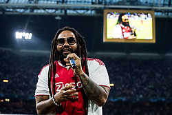 Ky-Mani Marley, son of Bob Marley during the UEFA Champions League group E match between Ajax Amsterdam and AEK FC at the Johan Cruijff Arena on September 19, 2018 in Amsterdam, The Netherlands