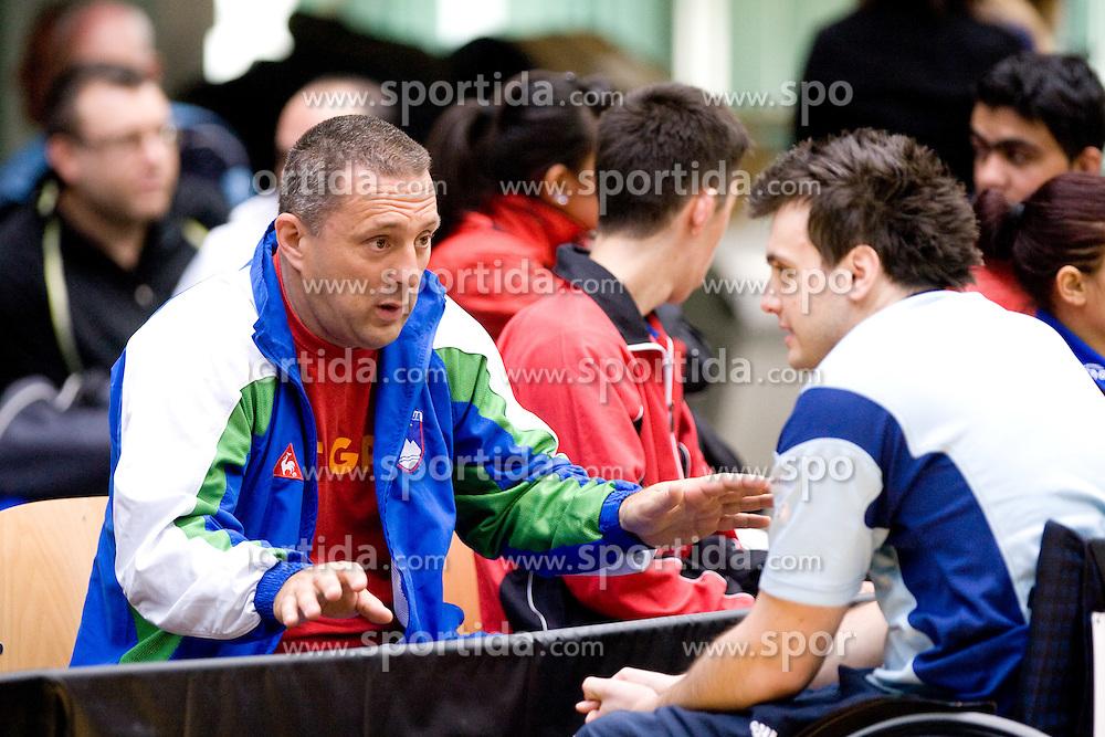 Assistant Coach of Slovenia Damijan Lazar and Primoz Kancler at 7th Slovenia Open - Thermana Lasko 2010 Table Tennis Championships for the Disabled Factor 40, on May 6, 2010, in Dvorana Tri Lilije,  Lasko, Slovenia.  (Photo by Vid Ponikvar / Sportida)