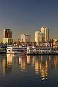 Downtown from Waterfront Center, Long Beach, California.