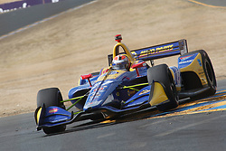 September 14, 2018 - Sonoma, CA, U.S. - SONOMA, CA - SEPTEMBER 14: Alexander Rossi works his way thru Turn 9A during the Verizon IndyCar Series practice for the Grand Prix of Sonoma on September 14, 2018, at Sonoma Raceway in Sonoma, CA. (Photo by Larry Placido/Icon Sportswire) (Credit Image: © Larry Placido/Icon SMI via ZUMA Press)