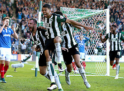 Peter Hartley of Plymouth Argyle celebrates his winning goal - Mandatory by-line: Robbie Stephenson/JMP - 15/05/2016 - FOOTBALL - Home Park - Plymouth, England - Plymouth Argyle v Portsmouth - Sky Bet League Two play-off semi-final second leg