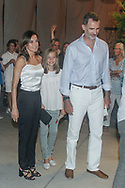 King Felipe, Queen Letizia and princess Sofia attend Ara Malikian concert at Port Adriano in Palma de Mallorca, Spain on 1st of August of 2018.