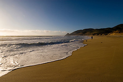 Montara Beach,.San Mateo Coast of California, south of San Francisco.  Photo copyright Lee Foster, 510-549-2202, lee@fostertravel.com, www.fostertravel.com.  Photo 414-30844