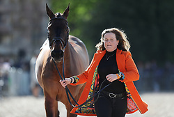 Pippa Funnell with Billy Beware in the trot up during day one of the Mitsubishi Motors Badminton Horse Trials at The Badminton Estate, Gloucestershire. PRESS ASSOCIATION Photo. Picture date: Wednesday May 2, 2018. See PA story EQUESTRIAN Badminton. Photo credit should read: David Davies/PA Wire