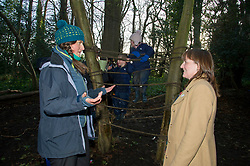 Pictured: Magda Kursa, Early Years Officer,explained how things operated on the ground<br /> Minister for Early Years and Childcare, Maree Todd today met a kindergarten class taking part outdoor learning at Luariston Castle Edinburgh.<br /> <br /> <br /> Ger Harley | EEm 22 February 2018