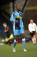 Photo: Kevin Poolman.<br />Wycombe Wanderers v Hereford United. Coca Cola League 2. 01/01/2007. Loan signing Fola Onbuje of Wycombe.