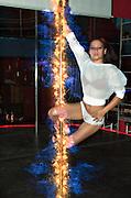 Digitally enhanced image of an erotic pole dancer in a nightclub
