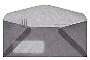 a provided by sender return mailing envelope back view open