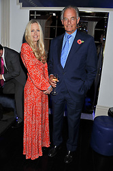 ASTRID HARBORD and the 4th MARQUESS OF READING at a reception hosted by Beulah London and the United Nations to launch Beulah London's AW'11 Collection 'Clothed in Love' and the Beulah Blue Heart Campaign held at Dorsia, 3 Cromwell Road, London SW7 on 18th October 2011.