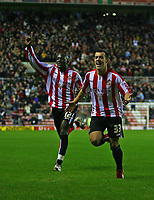 Photo: Andrew Unwin.<br />Sunderland v Southampton. Coca Cola Championship. 11/11/2006.<br />Sunderland's Ross Wallace (R) celebrates his goal.