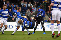 Photo: Jo Caird<br /> Gillingham v Reading<br /> <br /> Nationwide Div 1 2004<br /> 21/02/2004.<br /> <br /> Andy Hessenthaler is bought down in the penalty area but<br /> penalty was not converted