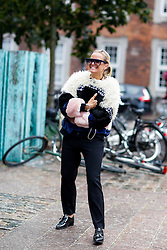 Street style, Celine Aagaard arriving at Nicholas Nybro Spring Summer 2017 show held at Regnbuepladsen, in Copenhagen, Denmark, on August 10, 2016. Photo by Marie-Paola Bertrand-Hillion/ABACAPRESS.COM  | 558625_003 Copenhagn Danemark Denmark