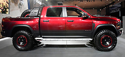 Nov 16, 2016. Los Angeles CA. Dodge 2017 Rebel TRX part concept truck on display, during the media day at the Los Angeles Auto show Wednesday. The show opens to the public on Nov 18th to the 27th.  photos by Gene Blevins/LA DailyNews/ZumaPress. (Credit Image: © Gene Blevins via ZUMA Wire)