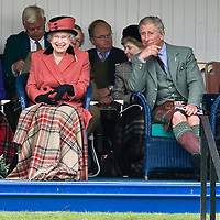 Braemar  Sep 6th  Her Majesty the Queen accompanied by The Duke of Edinburgh and HRH The Prince of Wales at the Braemar Gatherings 2008