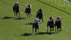 Garrus ridden by Ryan Moore (front left) wins The British Stallion Studs EBF Westow Stakes during day two of the Dante Festival at York Racecourse.