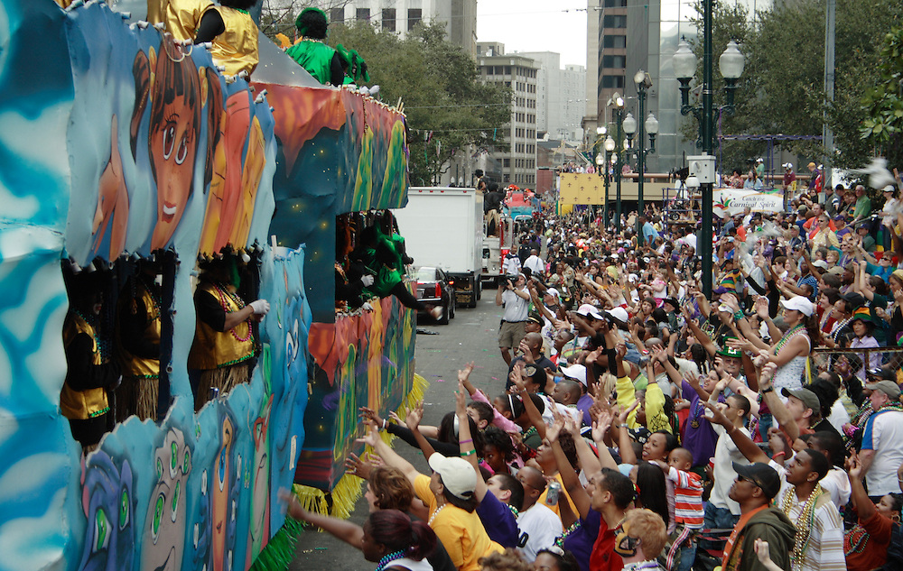 Zulu Parade, St. Charles Ave., New Orleans, Mardi Gras 2008