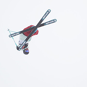 Gus Kenworth, USA, in action during the Freeski Halfpipe event at the Winter Games at Cardrona, Wanaka, New Zealand. 17th August 2011. Photo Tim Clayton...