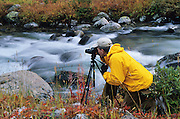 Photographer captures Rock Creek near the base of the Beartooth Mountains, Montana.