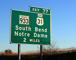 South Bend exit on Indiana Toll Road..Photo by Matt Cashore..Use of this image prohibited without authorization and/or compensation..To contact Matt Cashore:.574.220.7288.574.233.6124.cashore1@michiana.org.www.mattcashore.com