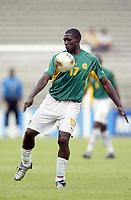 FOTBALL - CONFEDERATIONS CUP 2003 - 1/2 FINAL - KAMERUN v COLOMBIA - 030626 - MARC-VIVIEN FOE (CAM) - PHOTO JEAN-MARIE HERVIO / DIGITALSPORT