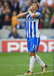 15 October 2017 -  Premier League - Brighton and Hove Albion v Everton - Anthony Knockaert of Brighton and Hove Albion - Photo: Marc Atkins/Offside