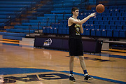 Southeastern Oklahoma State sophomore James Donelan participates during basketball practice in Durant, Oklahoma on January 27, 2017.  (Cooper Neill for The New York Times) in Durant, Oklahoma on January 27, 2017.  (Cooper Neill for The New York Times)