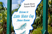 Little Water Cay Nature Reserve sign, Providenciales, Turks & Caicos