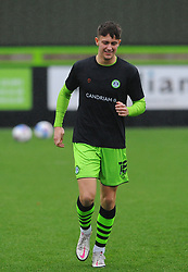 Jake Young of Forest Green Rovers warms up prior to kick-off- Mandatory by-line: Nizaam Jones/JMP - 14/11/2020 - FOOTBALL - innocent New Lawn Stadium - Nailsworth, England - Forest Green Rovers v Mansfield Town - Sky Bet League Two