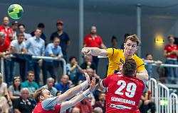 04.06.2019, Sporthalle am See, Hard, AUT, spusu HLA, Alpla HC Hard vs Moser Medical UHK Krems, Finale, 4. Spiel, im Bild Lucijan Fizuleto (Moser Medical UHK Krems) // during the spusu Handball League Austria final, 4th round match between Union JURI Leoben and Sparkasse Schwaz Handball Tirol at the Sporthalle am See in Hard, Austria on 2019/06/04. EXPA Pictures © 2019, PhotoCredit: EXPA/ Rinderer Peter