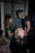 JEANNE MARINE, JEMIMA KHAN AND MARIELLA FROSTRUP , Pre Bafta dinner hosted by Charles Finch and Chanel. Mark's Club. Charles St. London. 9 February 2008.  *** Local Caption *** -DO NOT ARCHIVE-© Copyright Photograph by Dafydd Jones. 248 Clapham Rd. London SW9 0PZ. Tel 0207 820 0771. www.dafjones.com.