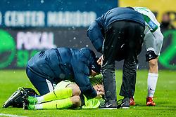Aljaz Ivacic, injured during football match between NK Maribor and NK Olimpija Ljubljana in 2nd leg match in Quaterfinal of Slovenian cup 2017/2018, on November 29, 2017 in Ljudski vrt, Maribor, Slovenia. Photo by Ziga Zupan / Sportida