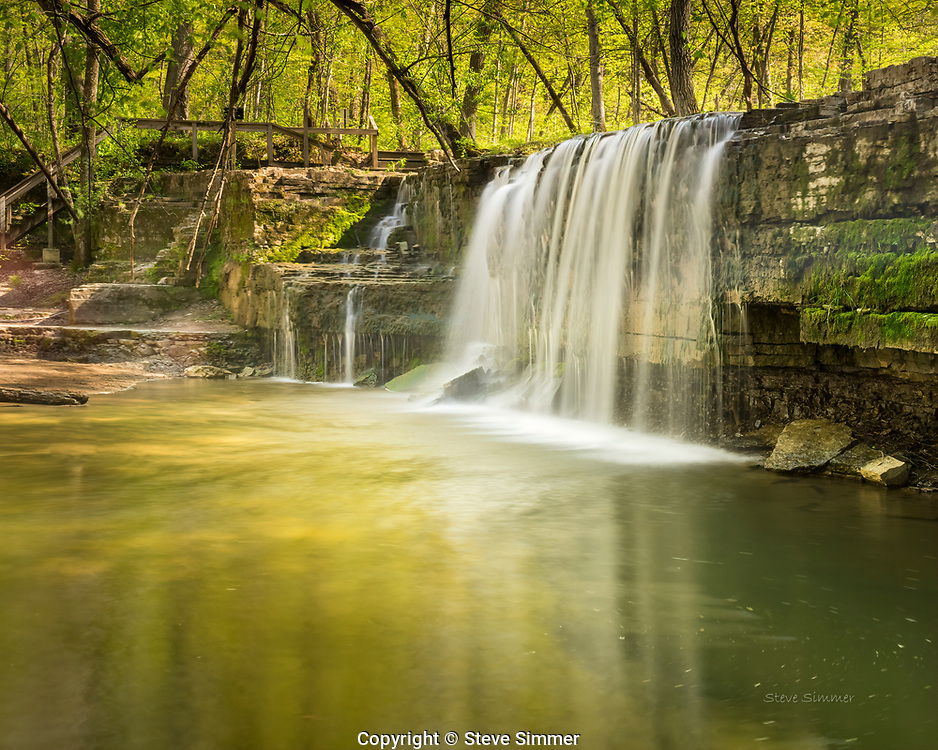 Probably the best known, so-called Hidden Falls in the state.  For a good reason - it is beautiful. At Nerstrand Big Woods State Park
