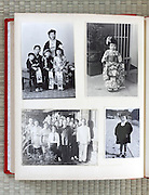 open page of a family photo album Japan Asia 1930s through 1950s
