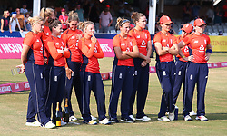 July 1, 2018 - London, Greater London, United Kingdom - England Women players.during International Twenty20 Final match between England Women and New Zealand Women  at The Cloudfm County Ground, Chelmsford, England on 01 July 2018. (Credit Image: © Kieran Galvin/NurPhoto via ZUMA Press)