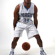 Orlando Magic guard Willie Green poses for the camera during the NBA Orlando Magic media day event at the Amway Center on Monday, September 29, 2014 in Orlando, Florida. (AP Photo/Alex Menendez)