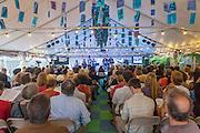 Concert at City of Asylum Pittsburgh's Alphabet City Tent on Sampsonia Way.